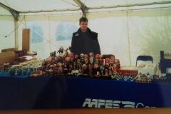 Andrej and his parent's stall on the US Army base