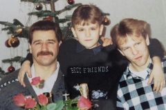 Andrej with his father and brother