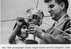 Roger Easton with Richard's sister Joan and Vanguard