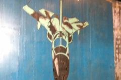Artwork within hardened aircraft shelter