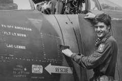 Nick Anderson As the junior pilot of No 43(F) Sqn I was amongst many senior and experienced pilots but was delighted to finally get my name on the side of an aircraft. My navigator, the ever patient Tony Bown, led me by the nose through so many new experiences.