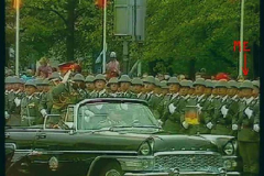 Torsten at the 40th Anniversary of the GDR parade (far right)